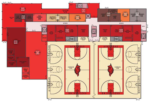 Practice facility for Basketball floor plan